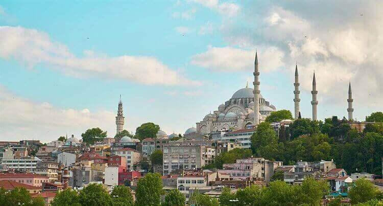 uitzicht moskee istanbul turkiije